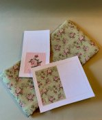 Fabric and material to make two pillows with roses - kit from Minimi's