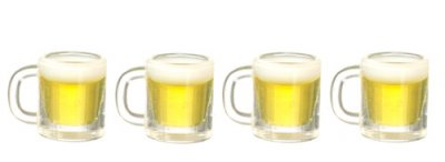 beer glasses dollshouse