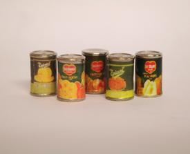 Cans, five pcs