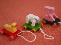 Toys on wheels, 3 pcs
