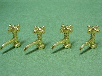 Taps gold, 4pcs