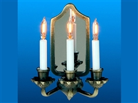 Triple candle with core