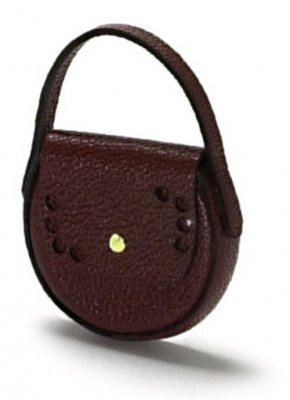 Handbag brown, round