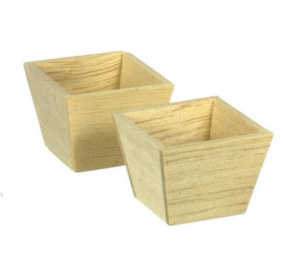 Plant pot LG 1/8in Square, set of 2