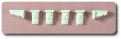 Six decorative brackets - hard casting plaster
