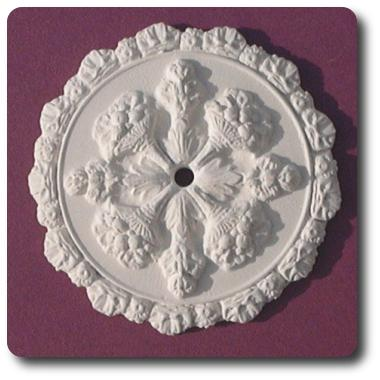 Grand ceiling rose mini- hard casting plaster