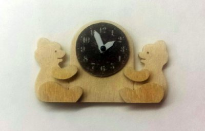 wall clock, child, with teddies