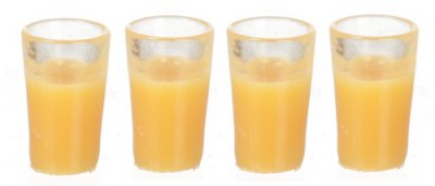 glasses with orangejuice set of 4