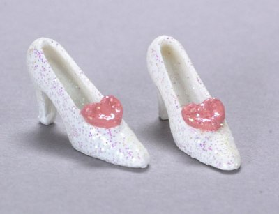Shoes with pink bow