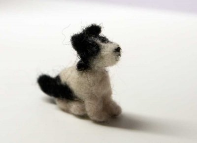 handmade wool dog, nr 9