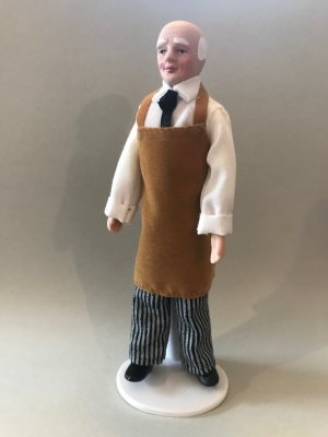 doll, 1:12 gardener, shopkeeper