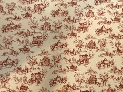 Wallpaper - Toile de Jouy Rasberry - A3