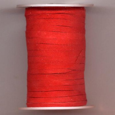 Ribbon suede, 3x0,5 mm red, 1 meter