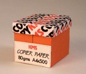 Box with copy paper red