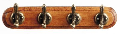 Wall coat rack 4 hooks
