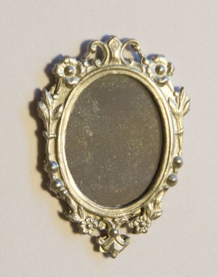 Mirror, oval 5x3 golden frame