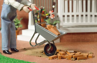 wheelbarrow, dollshouse