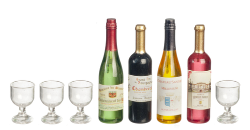 Miniature roombox dolls house wines of Italy